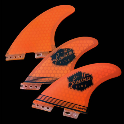 Dérive feather fins ULTRALIGHT ORANGE CLICK TAB ( fcs2)