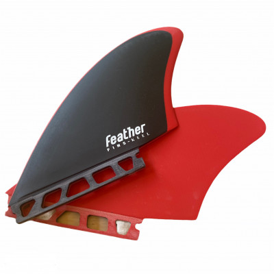 Twin feather fins