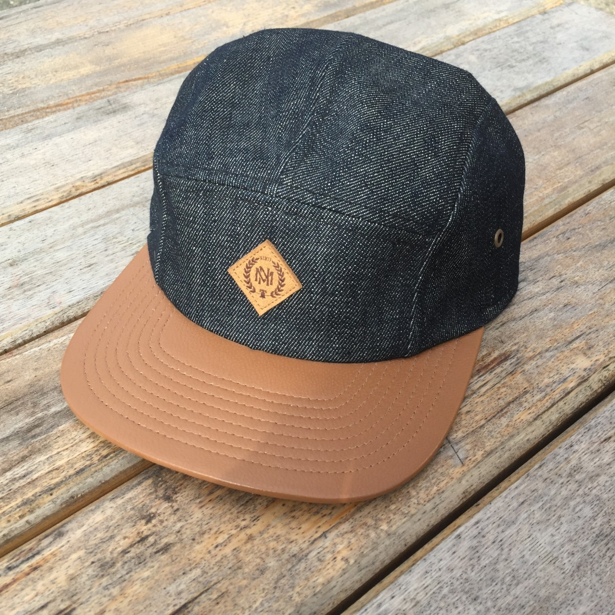 Casquette mitchell & ness 5 panel jean & cuir