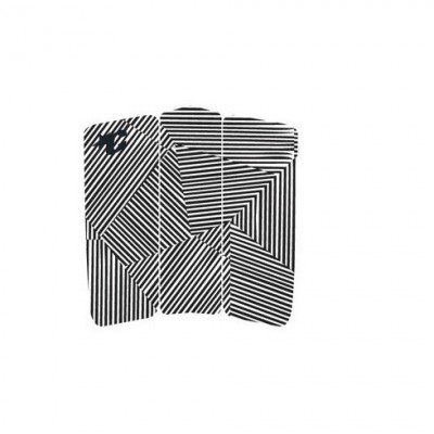 CREATURES TAIL PAD FRONT DECK BLACK WHITE STRIPE