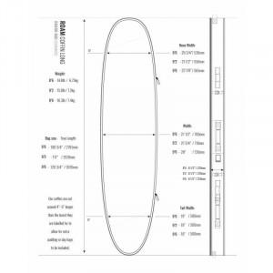 """HOUSSE DE SURF 2 /3 Boards 9'2"""" ROAM UNIVERS COFFIN 10MM SILVER"""